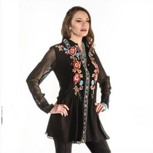 Vintage Collection Stacy Embroidered Long Tunic